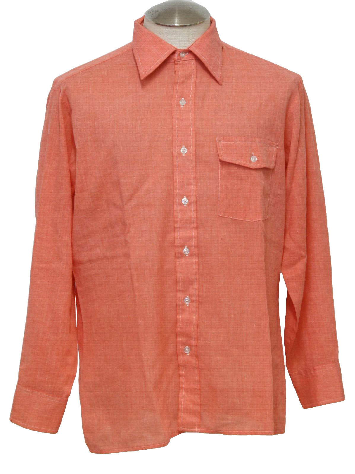 salmon colored dress shirt