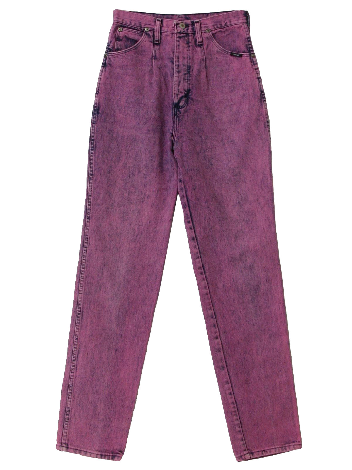 1980 39 s pants wrangler made in usa 80s wrangler made in usa womens navy and pinkish purple. Black Bedroom Furniture Sets. Home Design Ideas