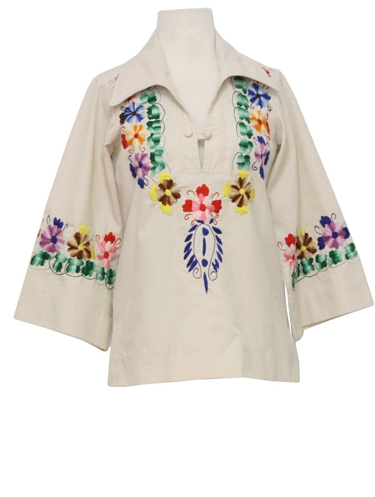 S vintage hippie shirt el estudio womens bone