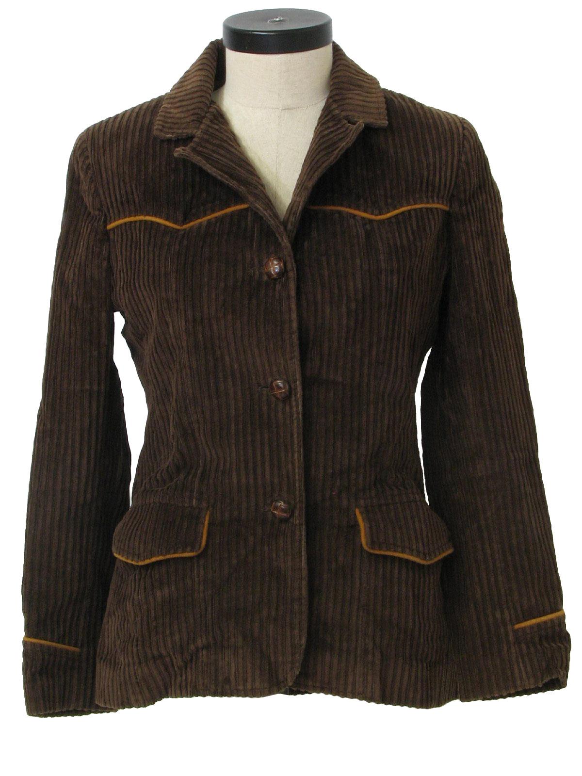 Eighties Vintage Jacket Early 80s Jocelli Womens brown