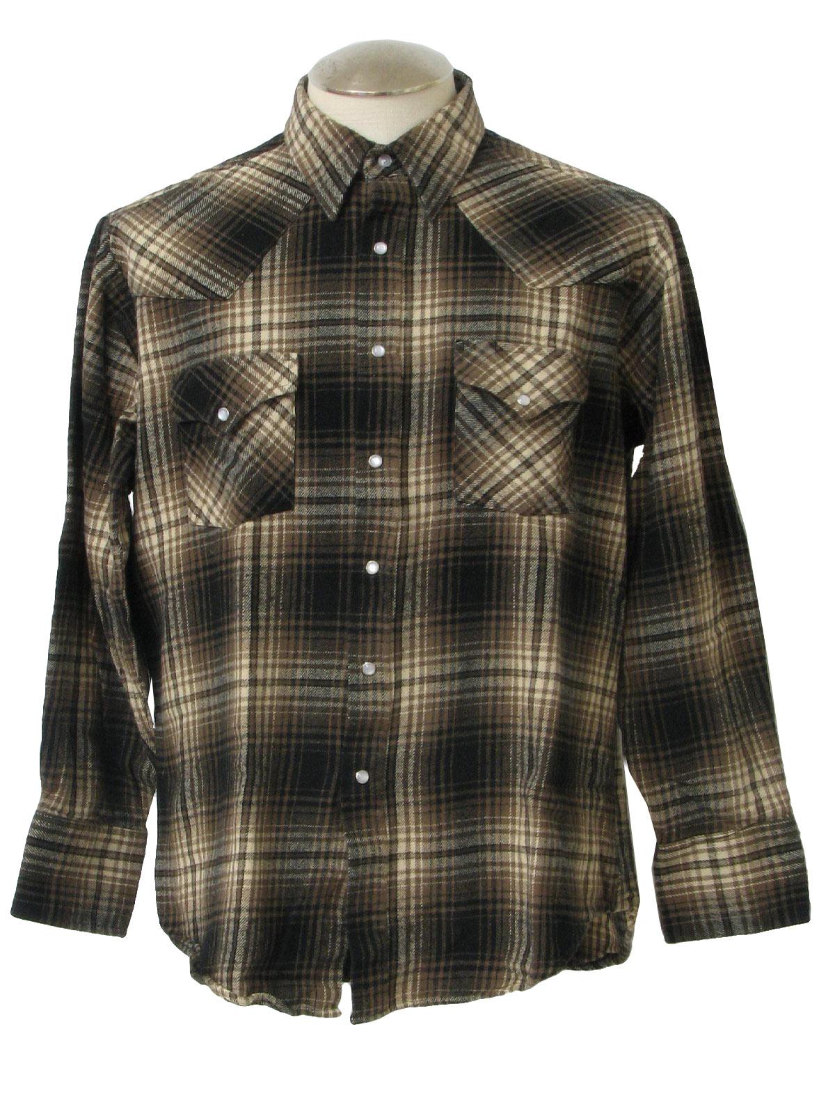 1980s Vintage Western Shirt 80s Ely Gentleman Mens