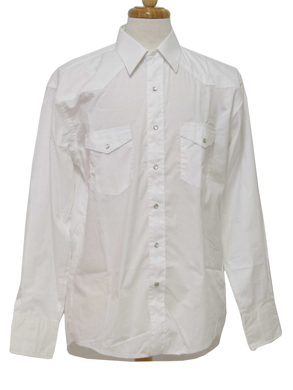 Vintage Men's Snap Down Shirt. Western Snap Down. White 70's Men's Shirt nSalYTJrH