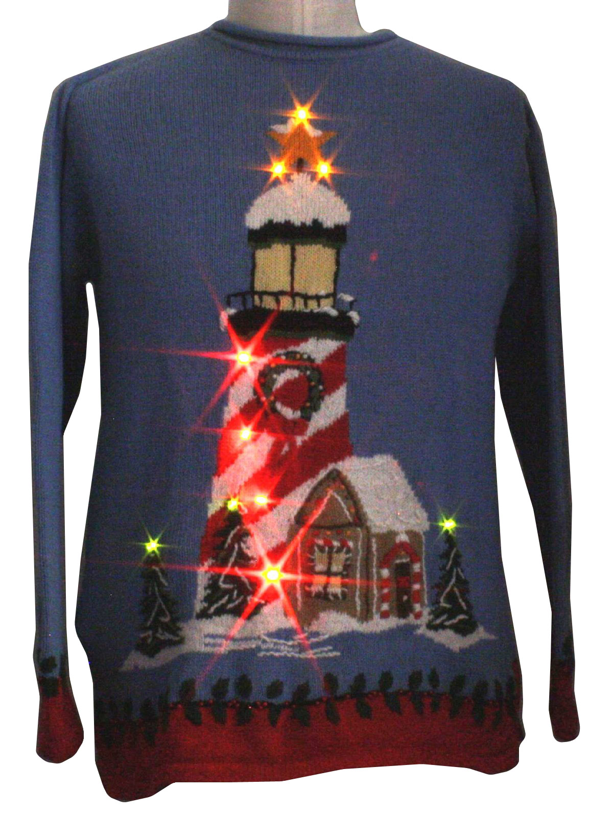 Lightup Ugly Christmas Sweater: -The Quacker Factory- Unisex baby ...