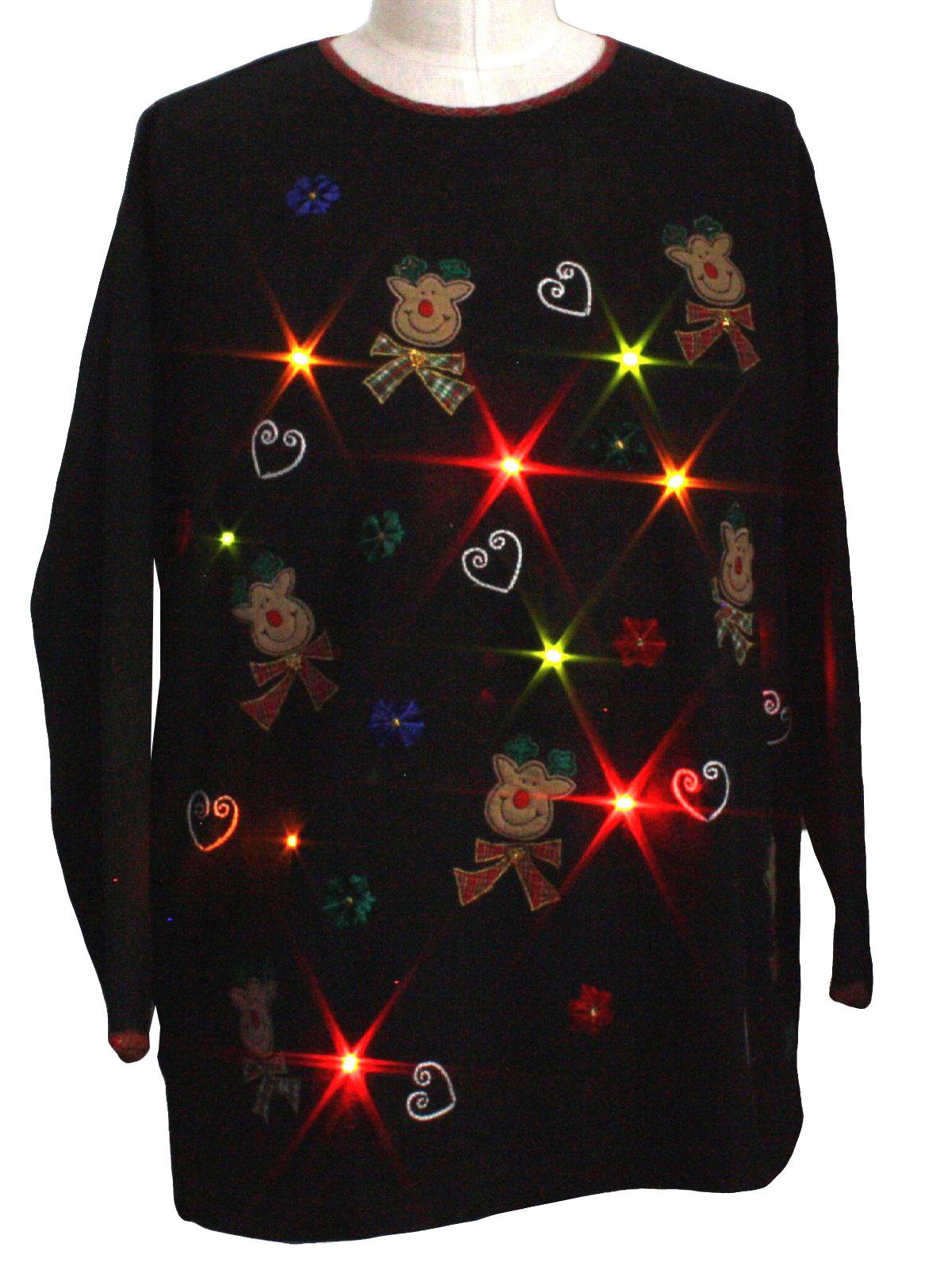 black background cotton polyester blend pullover longsleeve ugly