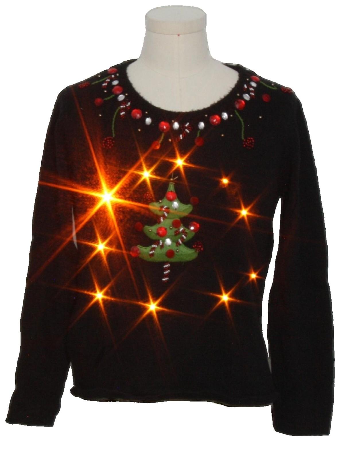 Womens Lightup Ugly Christmas Sweater Timberlea Womens
