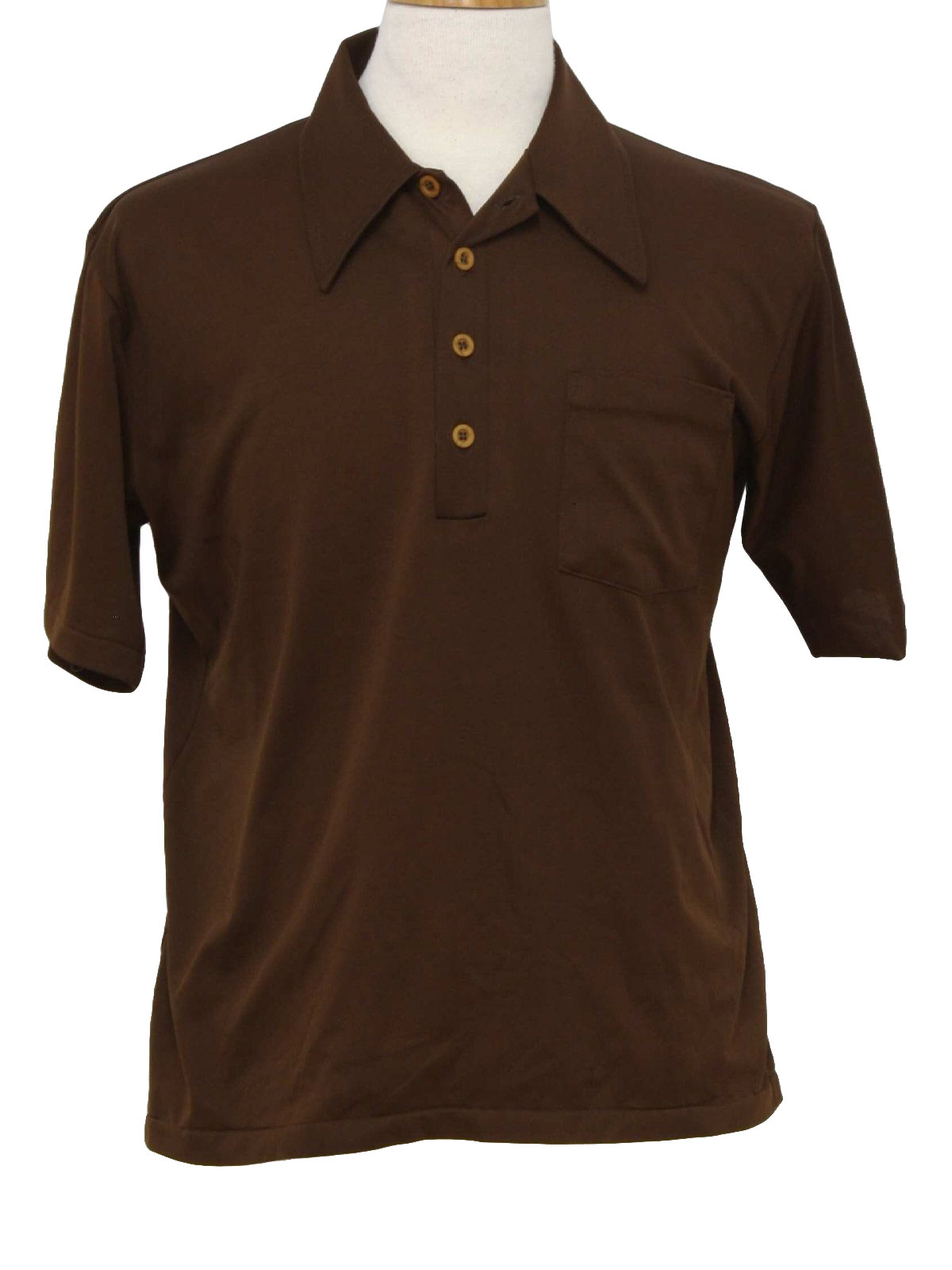 70 39 s vintage shirt 70s harper mens chocolate brown for Mens chocolate brown shirt