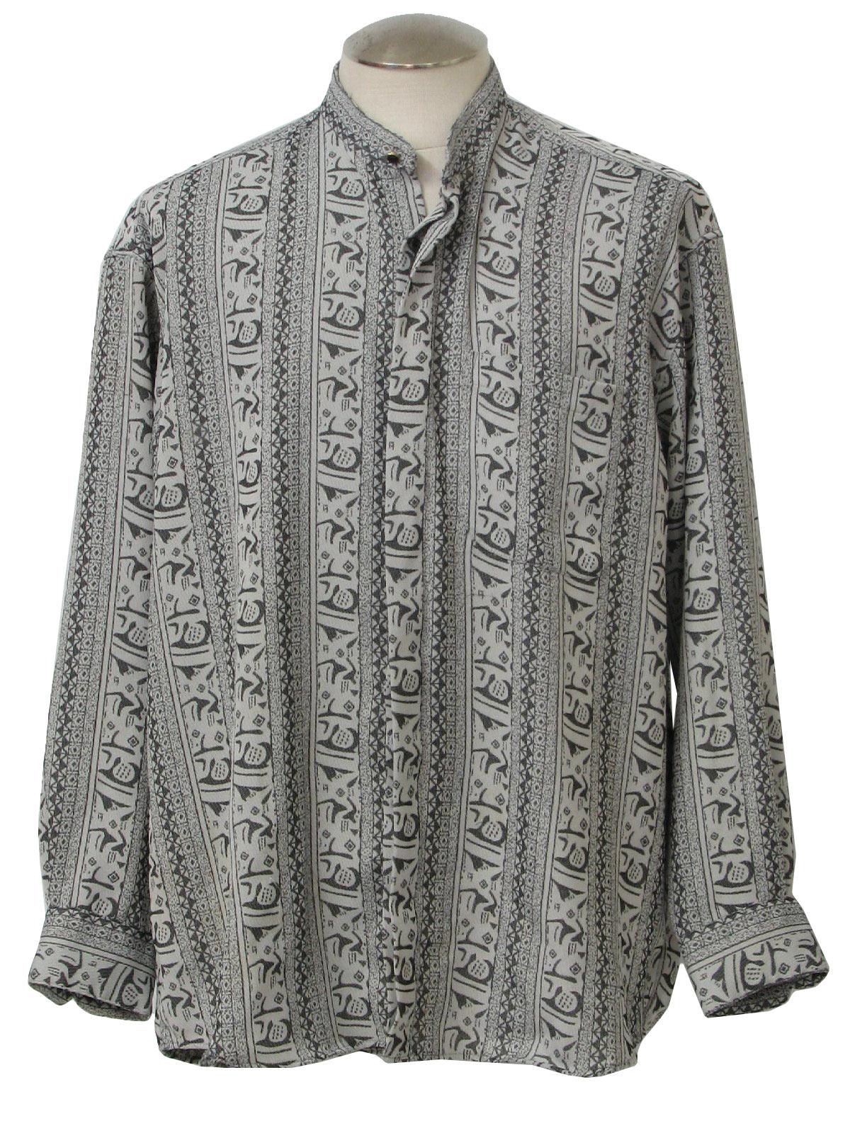 Vintage Monticerutti 1980s Hippie Shirt 80s Monticerutti Mens