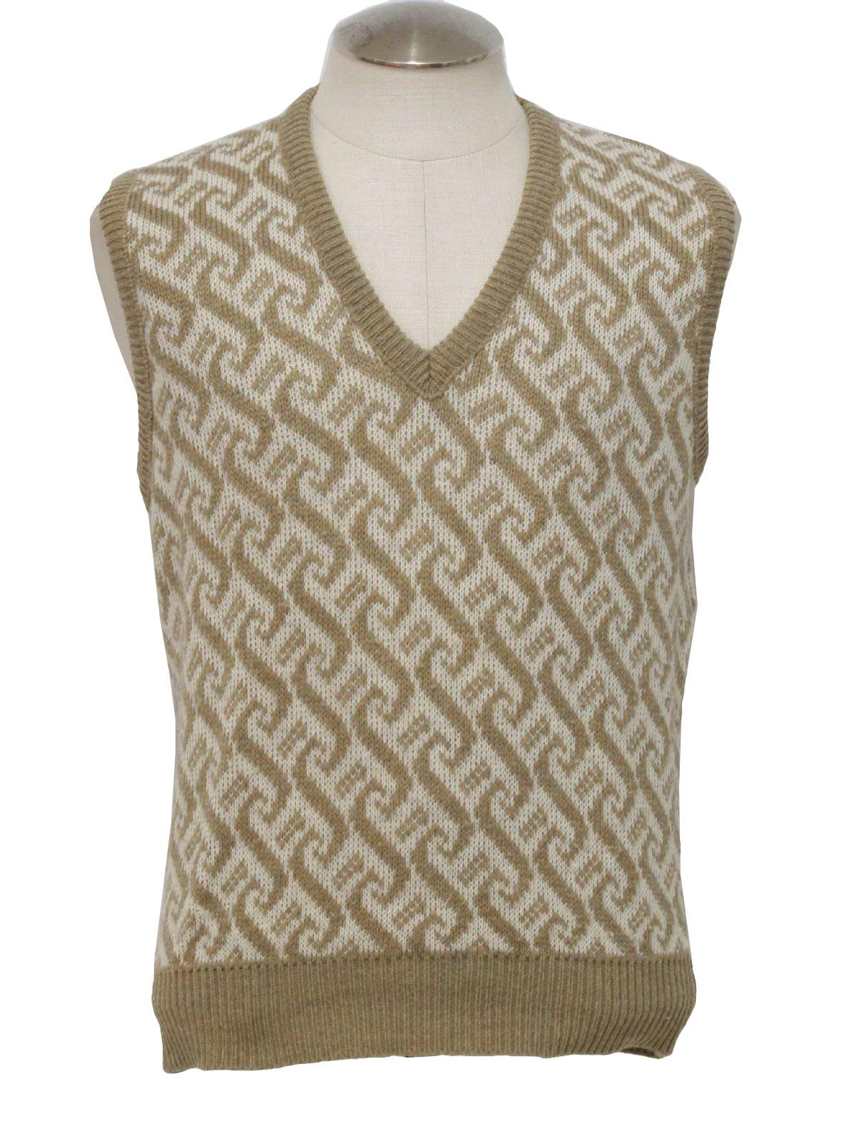 Seventies London Fog Sweater: 70s -London Fog- Mens light brown ...