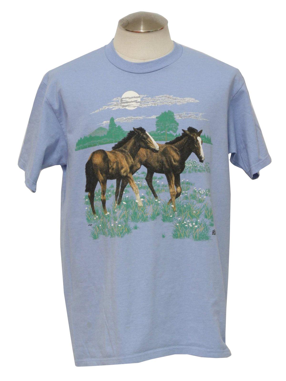 Vintage Jerzees 90 s T Shirt  90s -Jerzees- Unisex light blue 6800f7dc5