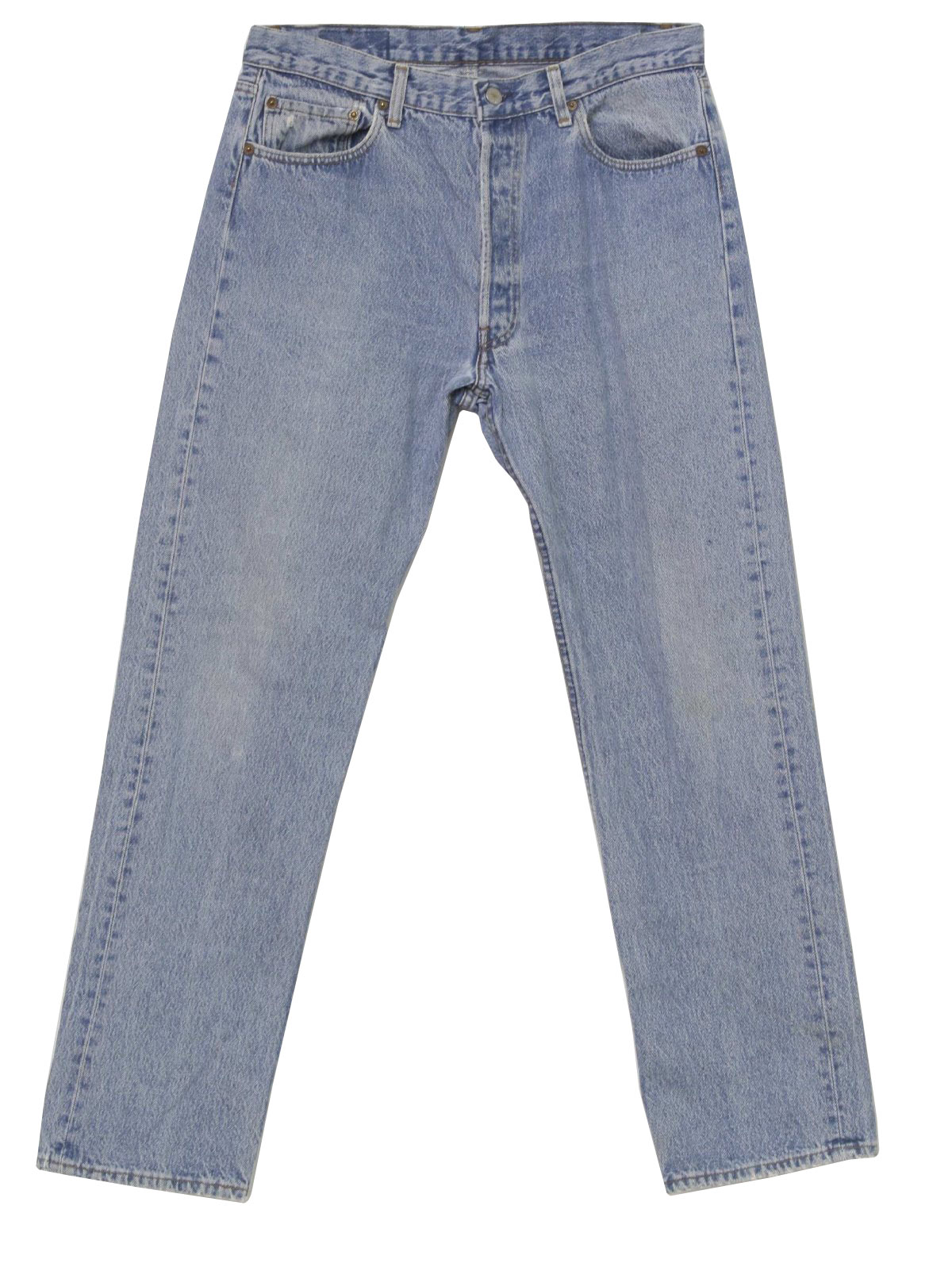 1594d9c3 1990's Vintage Levis 501 Pants: 90s -Levis 501- Mens light blue well ...