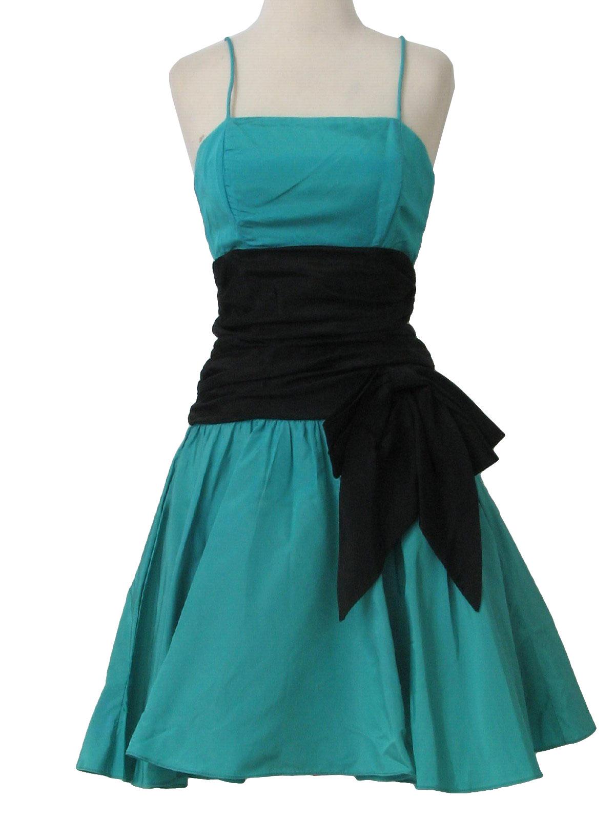 Retro 1980s Cocktail Dress: 80s -Union Label- Womens seam ...
