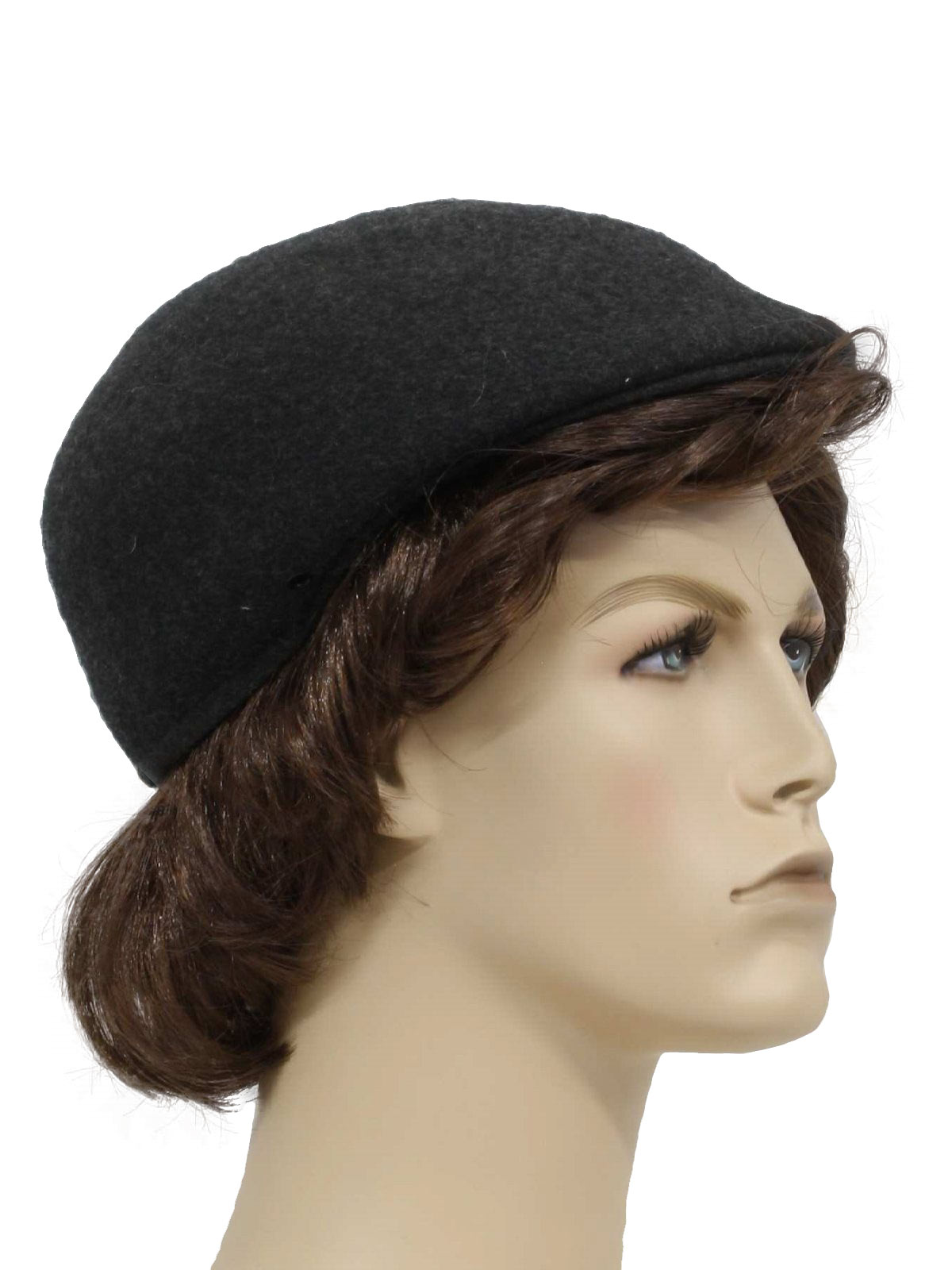 1950 s Vintage Pendleton Hat  50s -Pendleton- Mens charcoal grey ... a3f546414ec