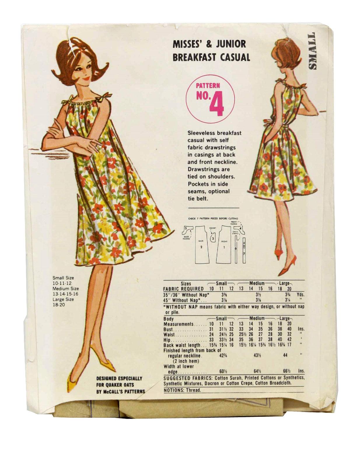 Mccalls Pattern No 4 Seventies Vintage Sewing Pattern