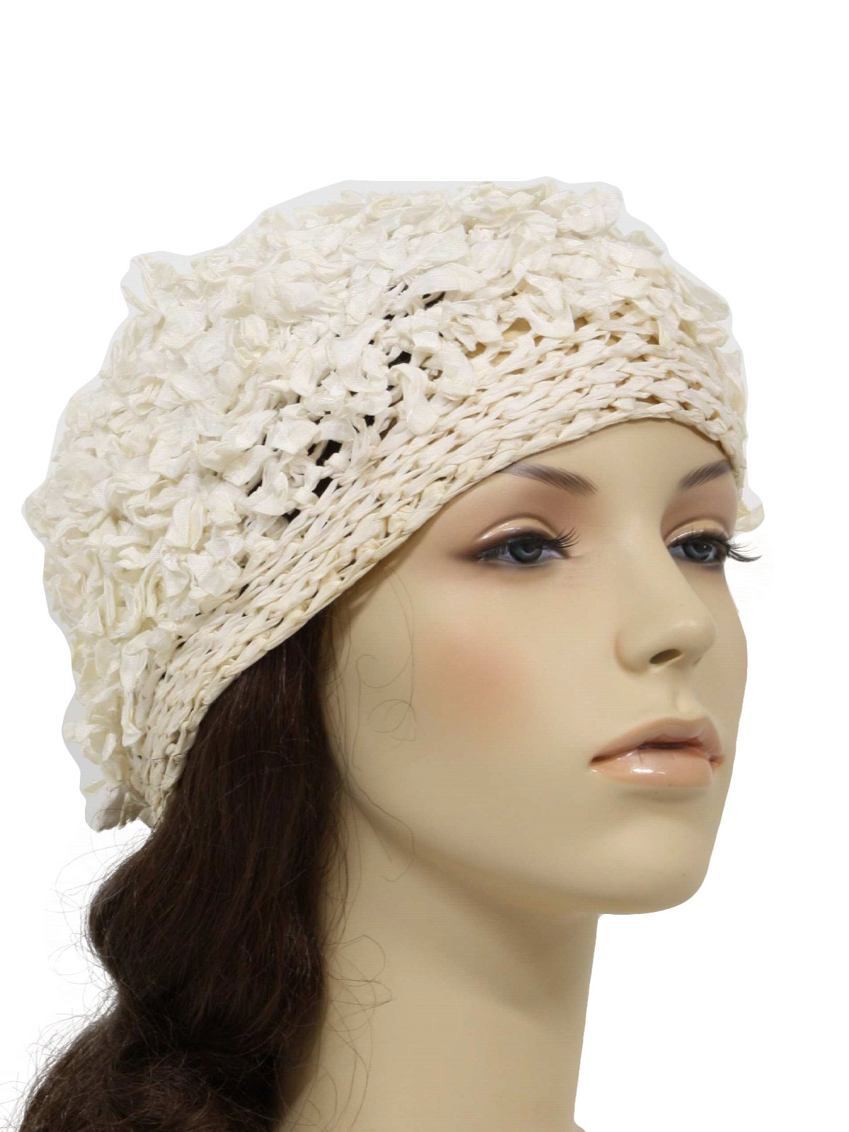 1970s Hat  70s -No Label- Womens white 76a7f3e6ee5
