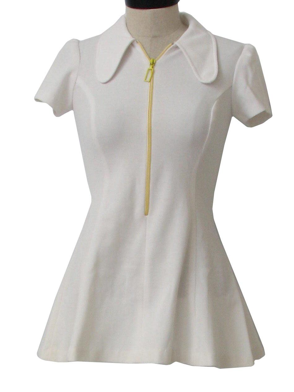 70 S Patty Woodard Mini Dress 70s Patty Woodard Womens