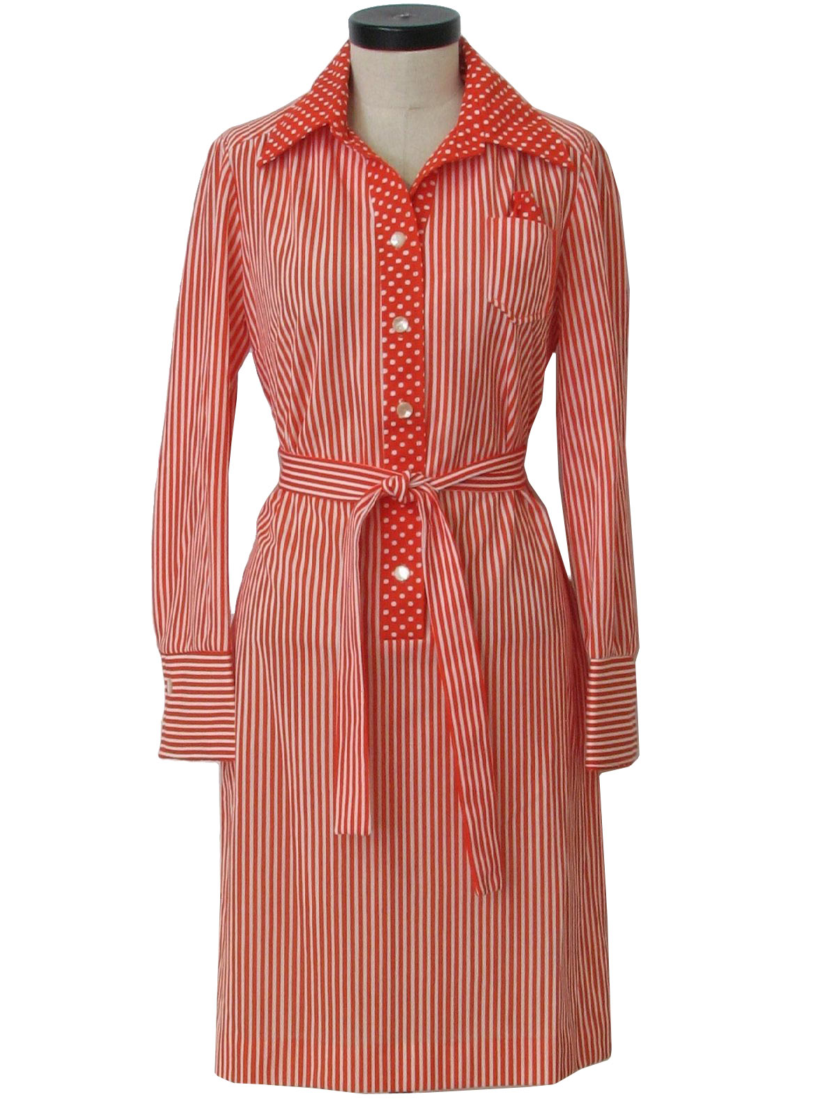 Mens Polka Dot Dress Shirt