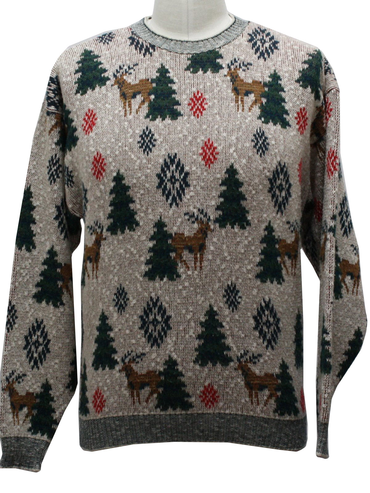 Vintage 1970s Mens Ugly Christmas Sweater Authentic 70s