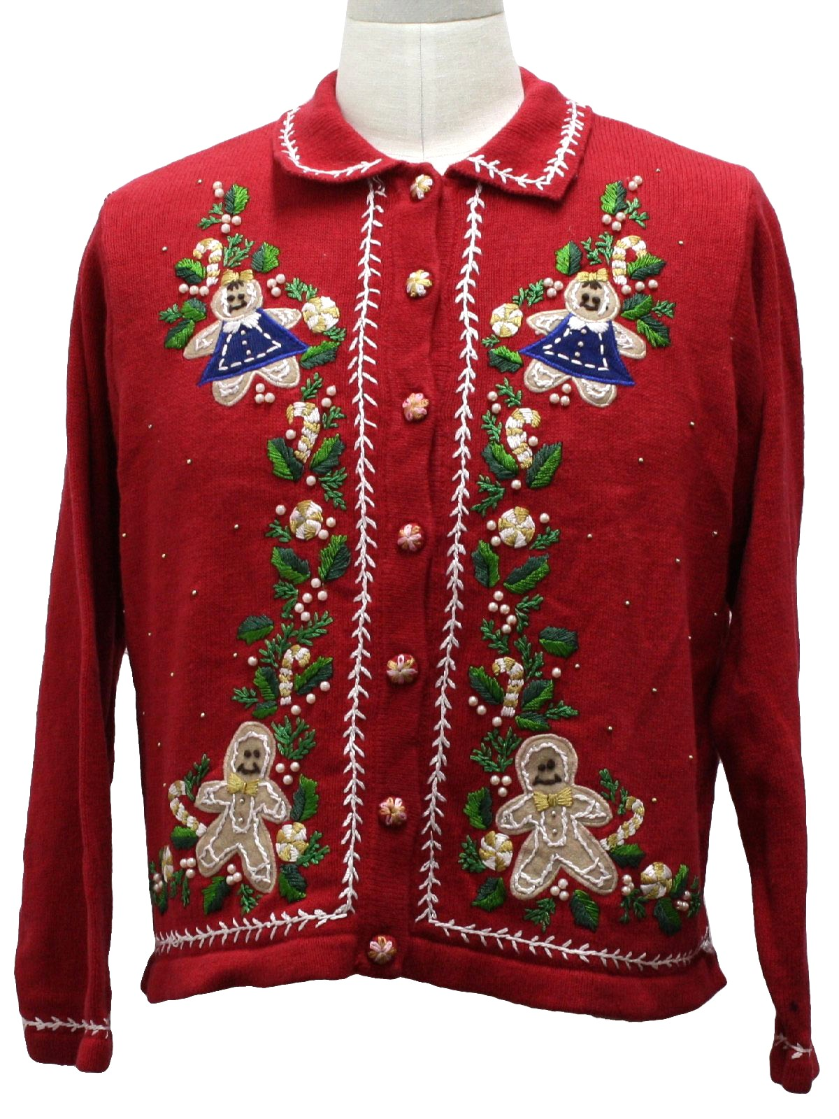 Womens Ugly Christmas Sweater: -Victoria Jones- Womens red ...