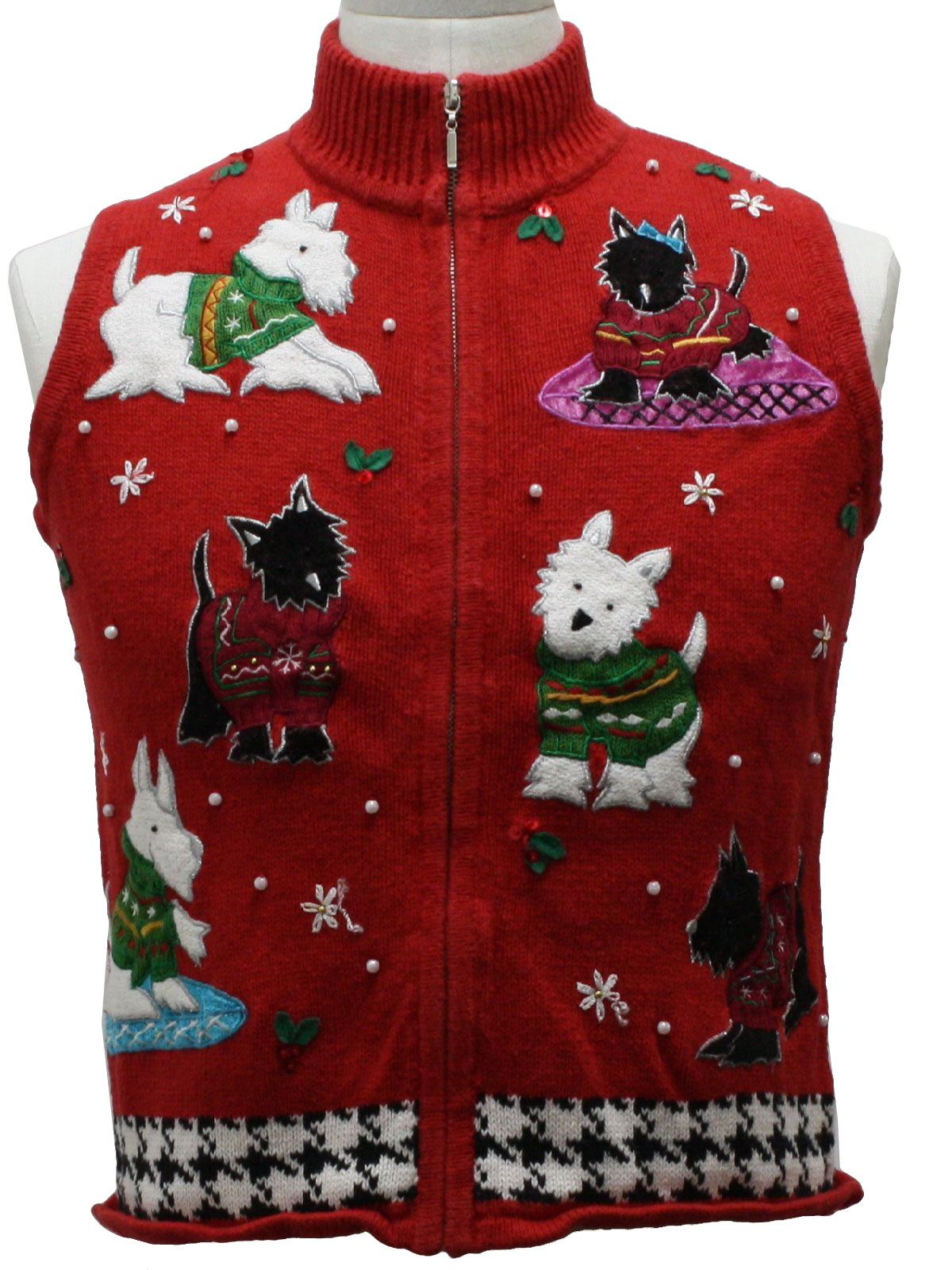 Womens Ugly Christmas Sweater Vest: -Studio- Petite Womens slight ...