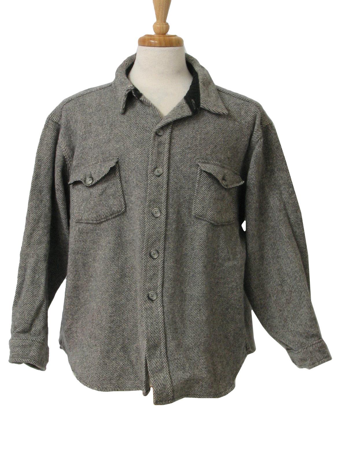 Vintage Woolrich Eighties Jacket: 80s -Woolrich- Mens black and
