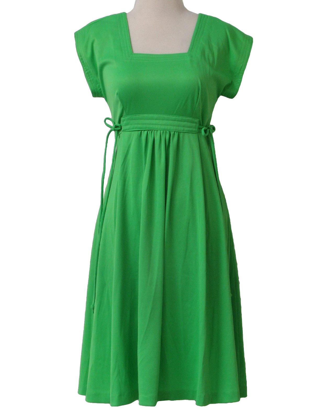 Vintage Montgomery Ward 70 S Disco Dress 70s Montgomery