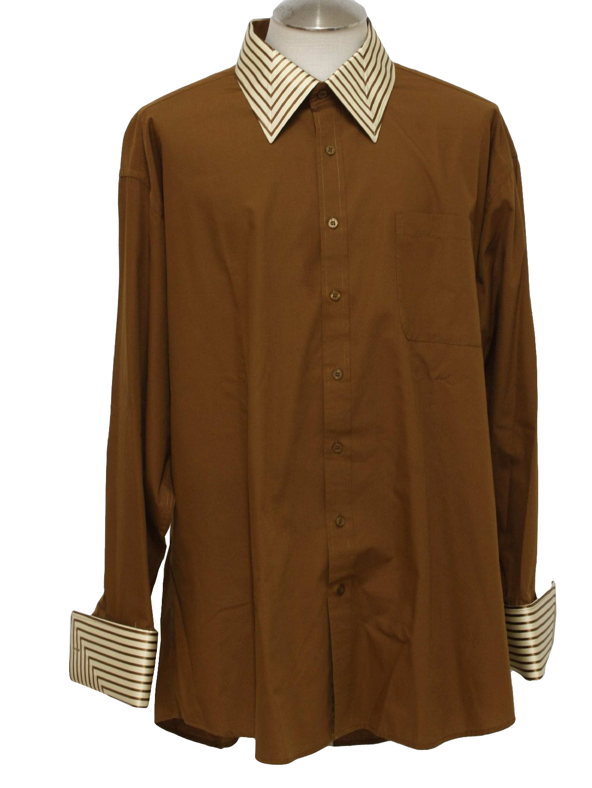 Vintage 1980 39 s shirt 80s daniel ellissa mens warm brown Daniel ellissa men s dress shirts