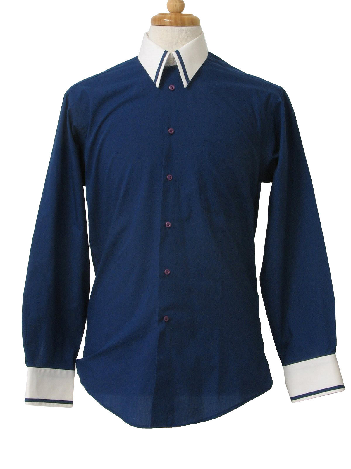 Mens Navy Blue Dress Shirt