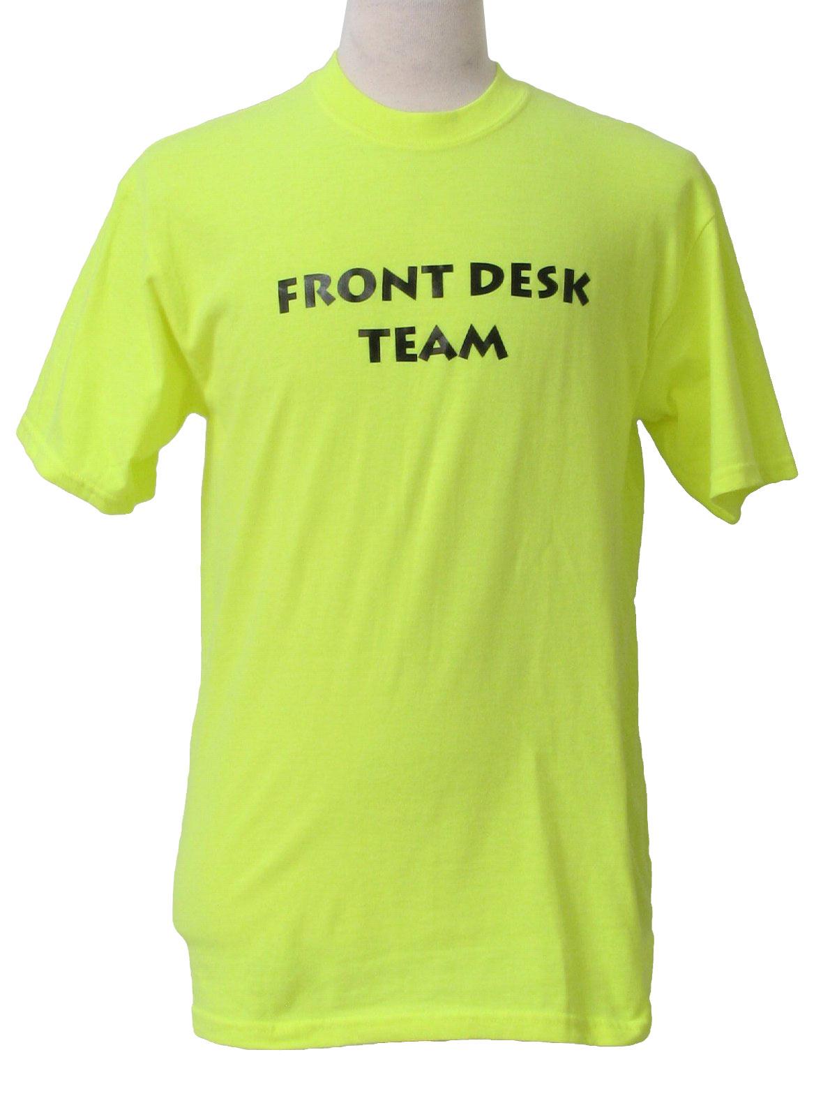 80 39 S Vintage T Shirt 80s Gildan Unisex Neon Yellow