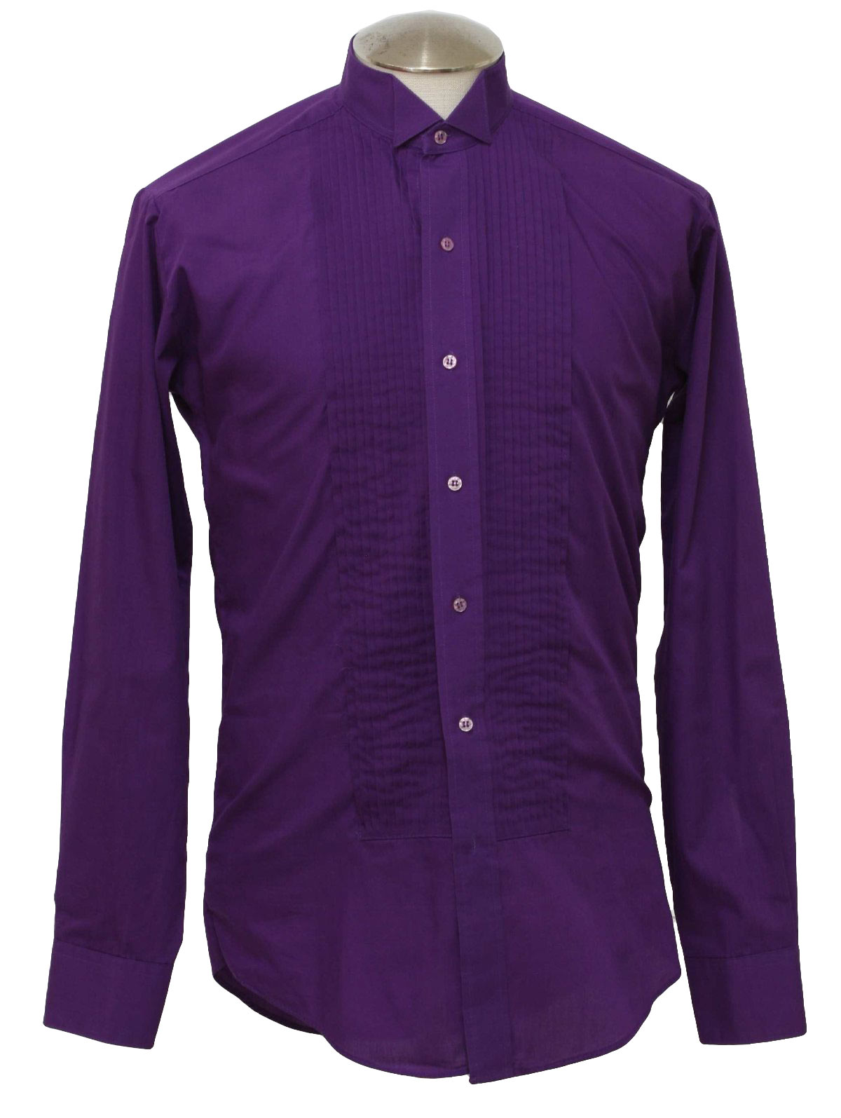 Vintage chaplin 80 39 s shirt 80s chaplin mens royal for Royal purple mens dress shirts