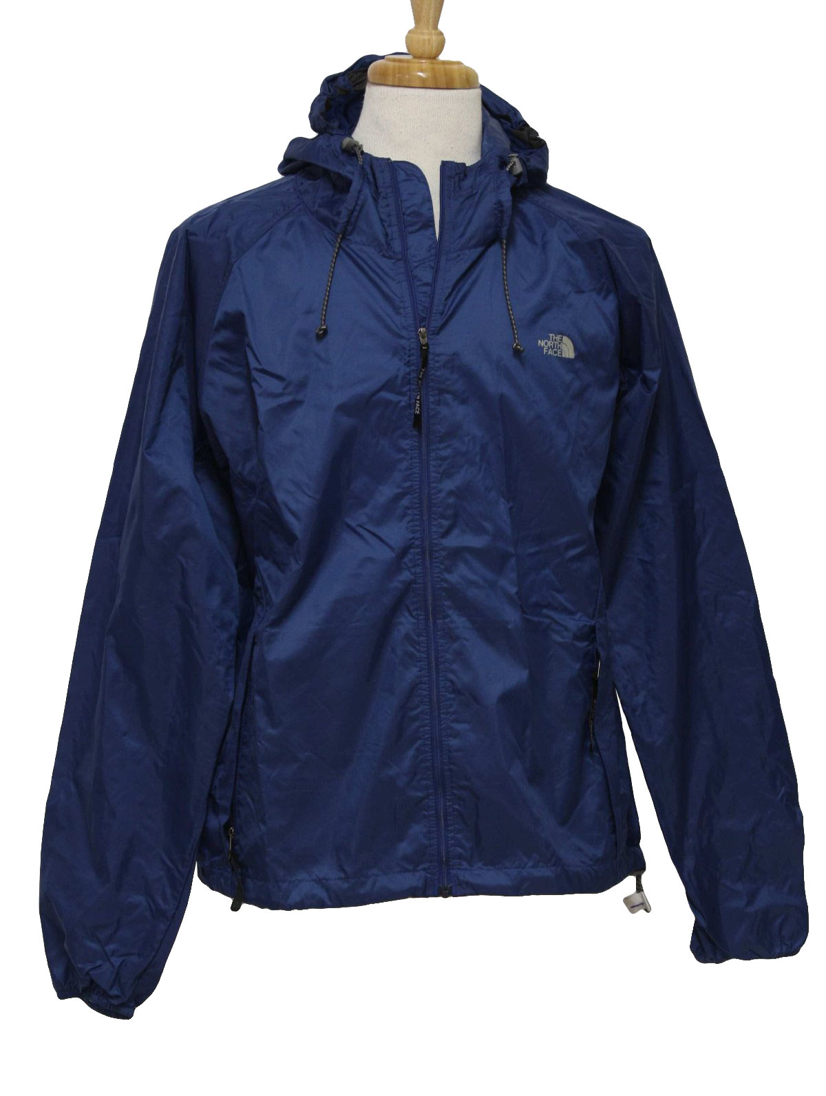 1990s North Face Jacket: 90s -North Face- Unisex navy blue nylon ...