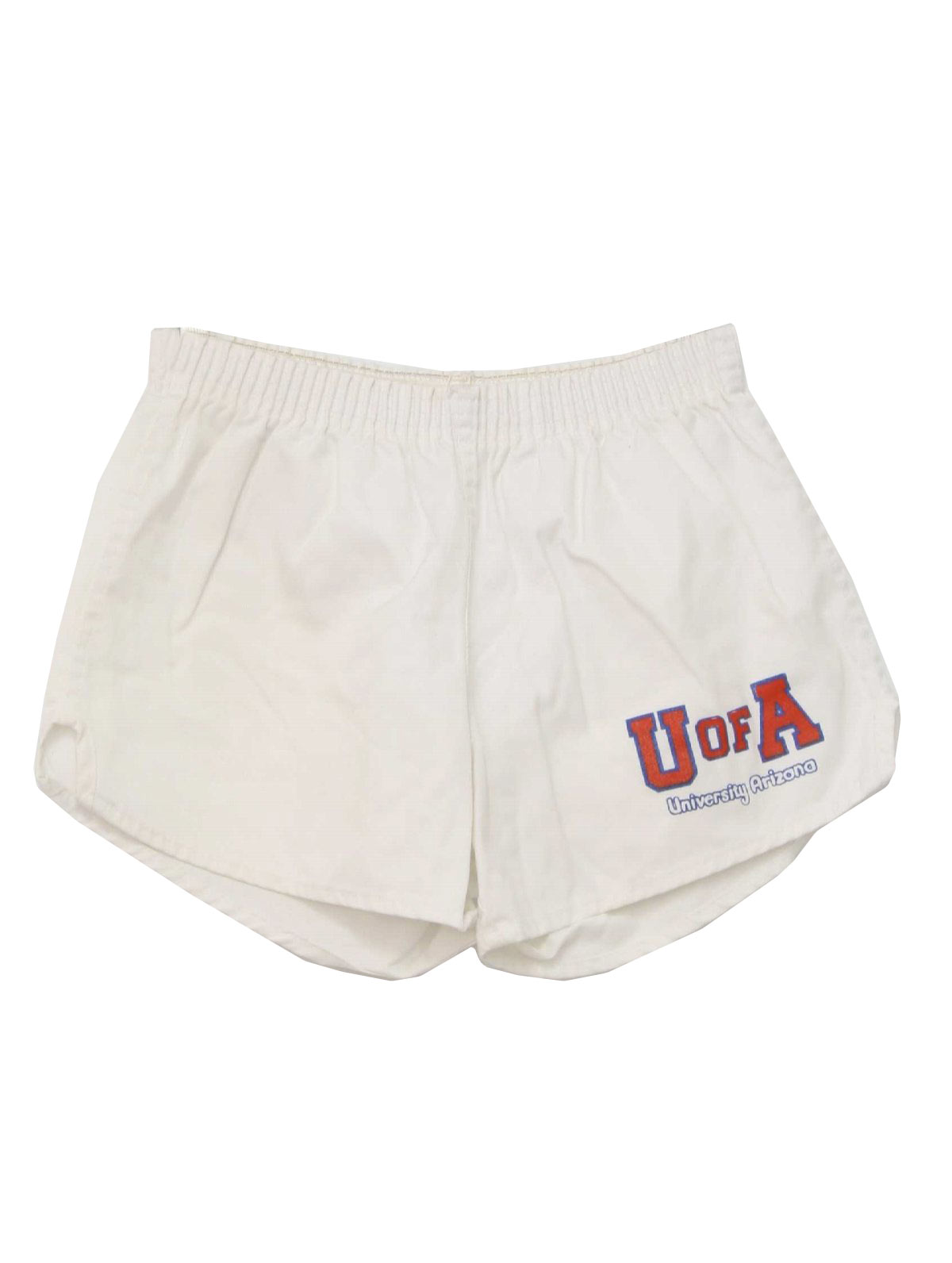 Retro 80's Shorts: 80s -Soffe Shorts- Mens white, red and blue ...