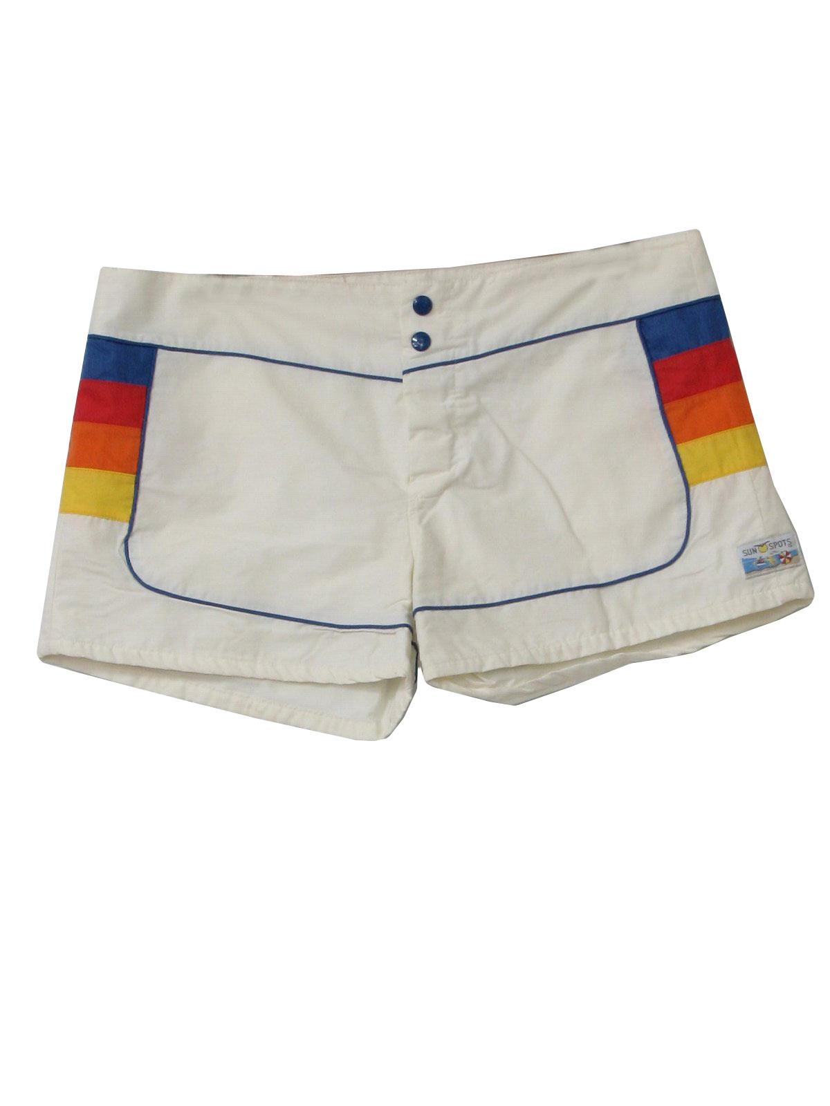 80s Retro Swimsuit Swimwear 80s Sun Spots Mens Off