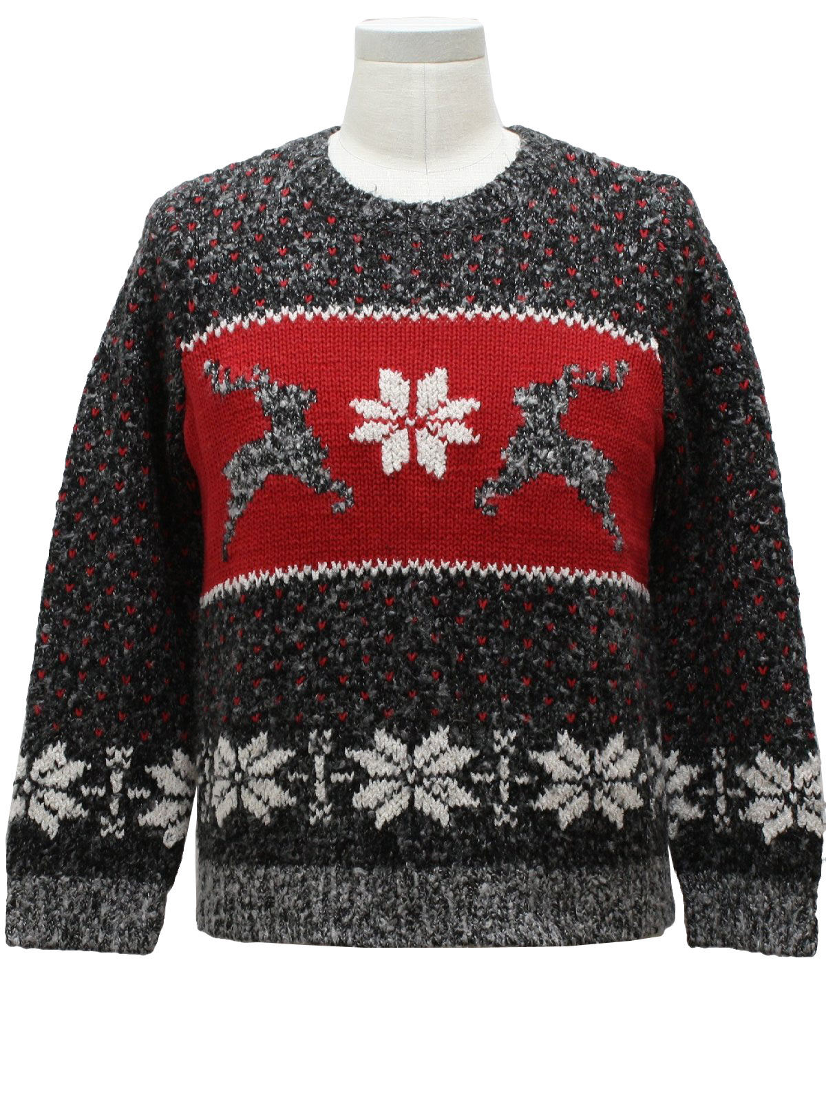 classic reindeer ugly christmas sweater russ unisex black and gray blend background ramie acrylic longsleeve pullover ugly christmas ski sweater - Classic Christmas Sweaters