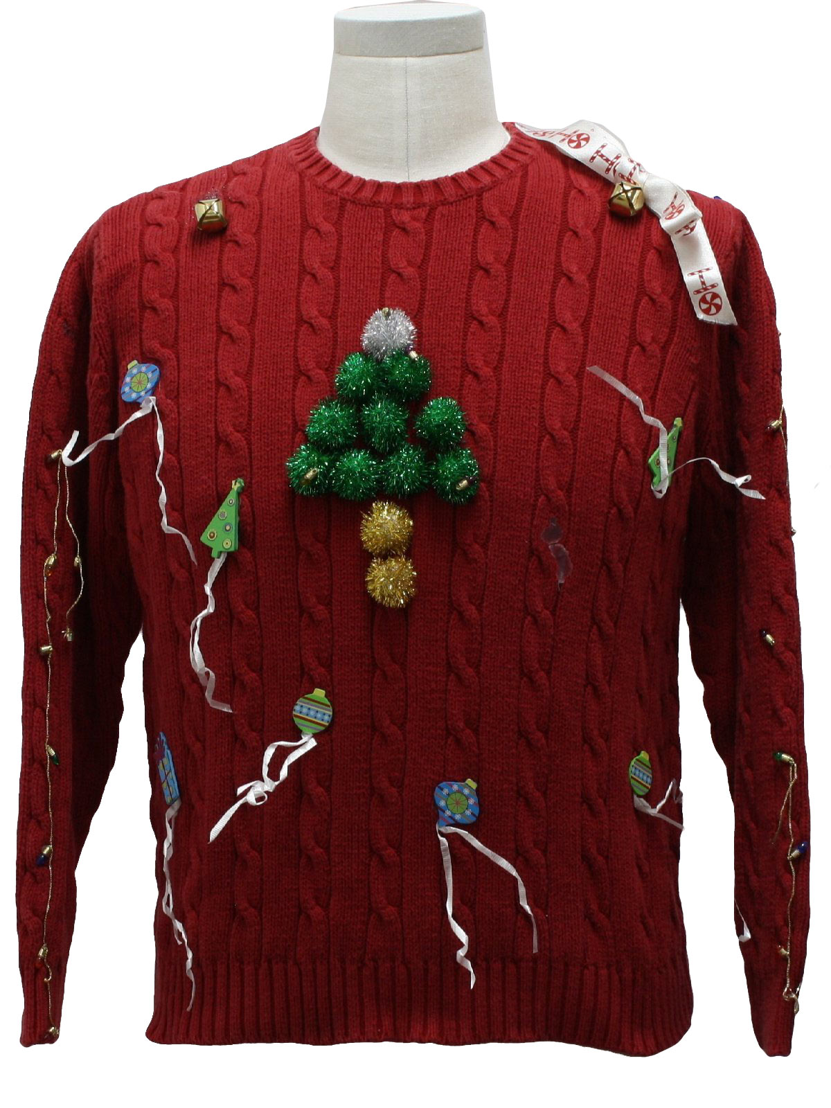 St. Johns Bay Unisex My-3-Year-Old-Could-Make-That Hand Decorated Amature Ugly Christmas Sweater $25.00 Not in stock. Item No. 229329