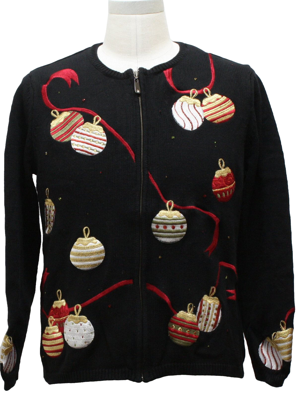 womens ugly christmas sweater nordstrom womens black background ramie cotton blend zip front longsleeve ugly christmas sweater round neckline with - Nordstrom Christmas Sweaters