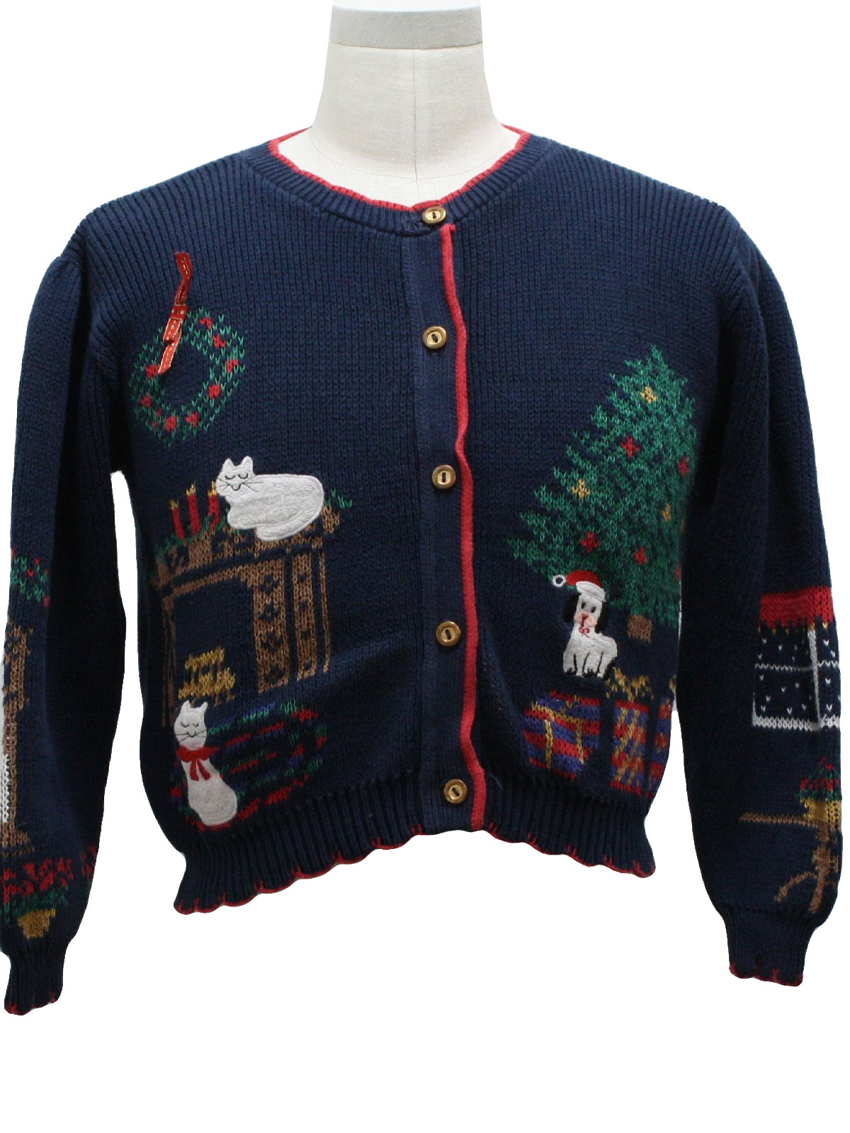80s Womens Vintage Ugly Christmas Sweater 80s Authentic Vintage Missing Label Womens Childs