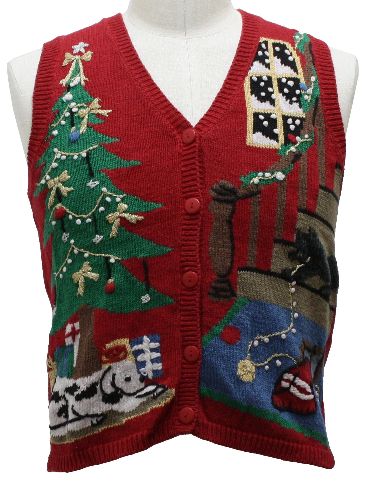 Womens Ugly Christmas Sweater Vest: -Capacity- Womens Red ...