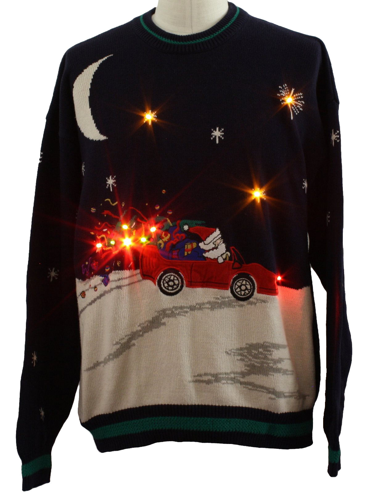 Mens Lightup Ugly Christmas Sweater Hathaway Mens