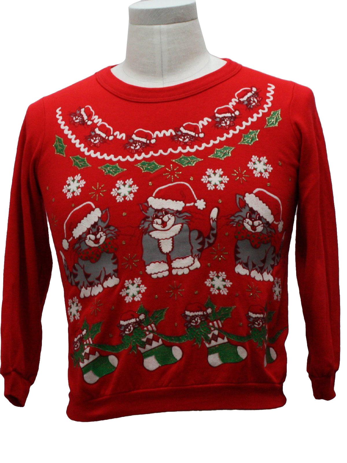 1980's Nutcracker Womens VintageCat-tastic Ugly Christmas Sweatshirt $32.00 Not in stock. Item No. 230105