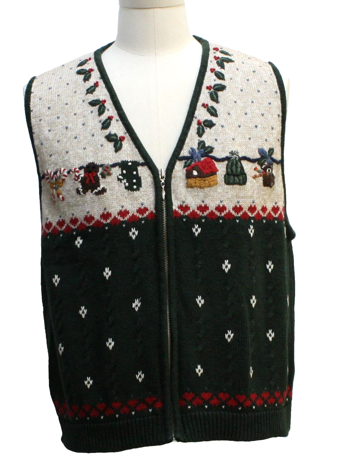 Womens Country Kitsch Ugly Christmas Sweater Vest: -Nutcracker ...