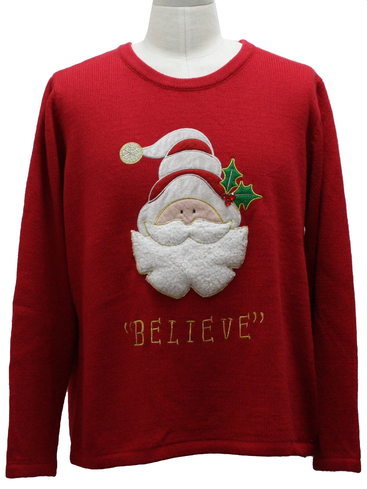 Ugly Christmas Sweater: -Care Label Only- Unisex red background ...