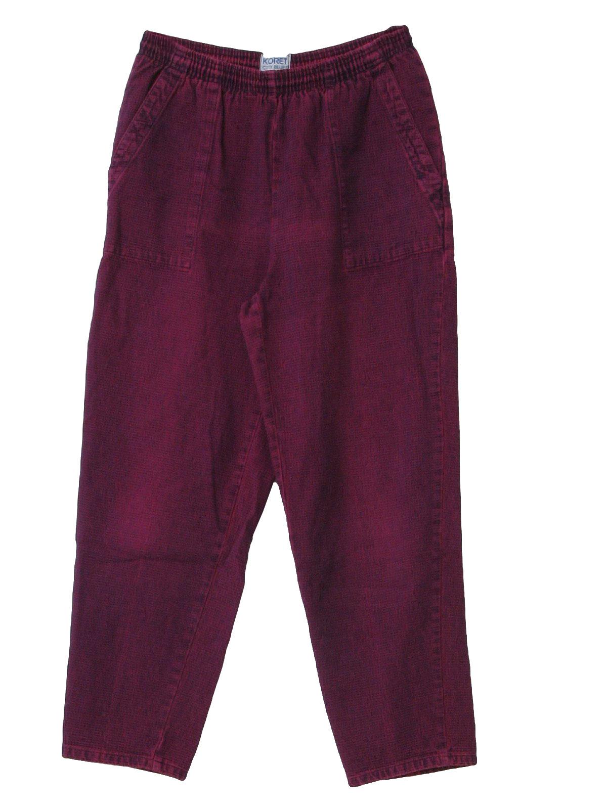 KORET Women's WHITE Polyester PANTS