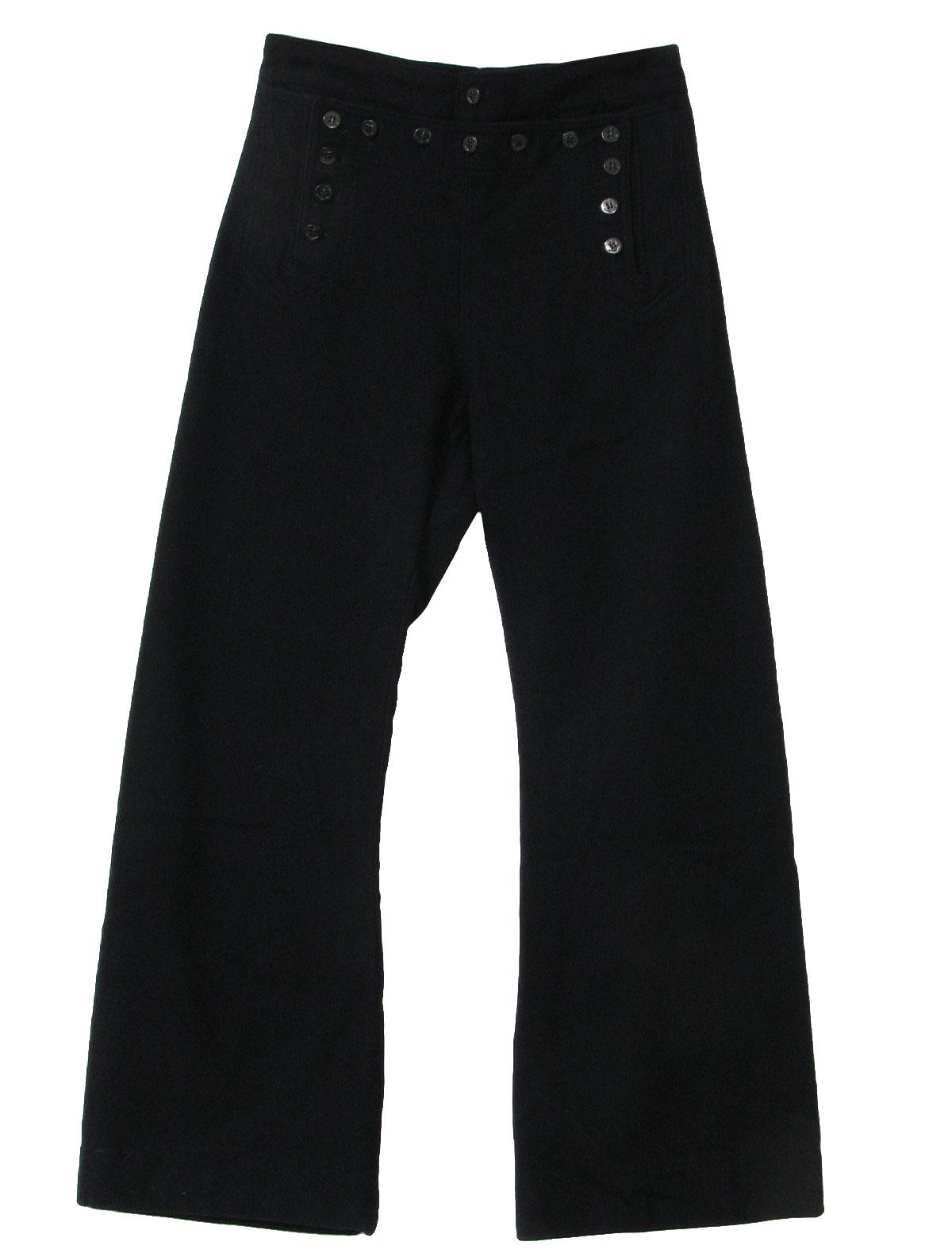 Navy choir bell bottom trousers