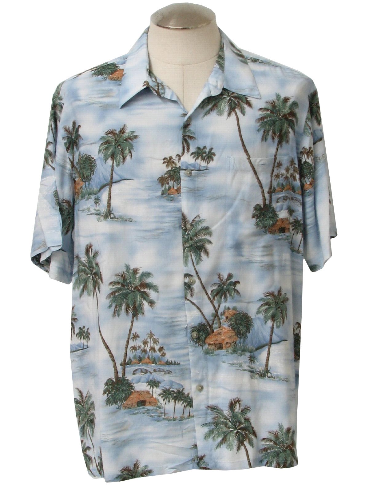 b0b91462e46 1990's Croft and Barrow Mens Hawaiian Shirt