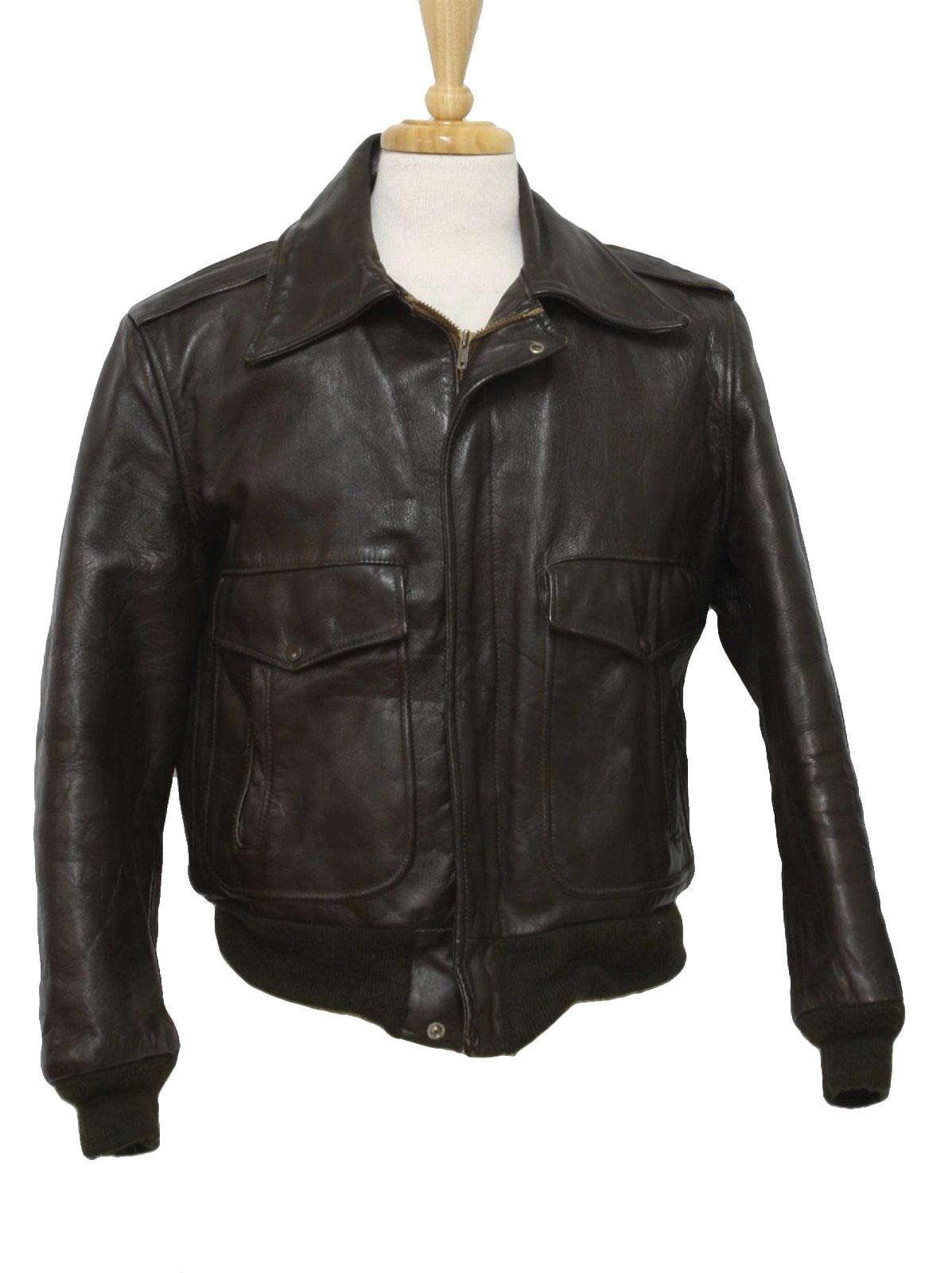 60's Golden Fleece Leather Jacket: 60s -Golden Fleece- Mens dark ...