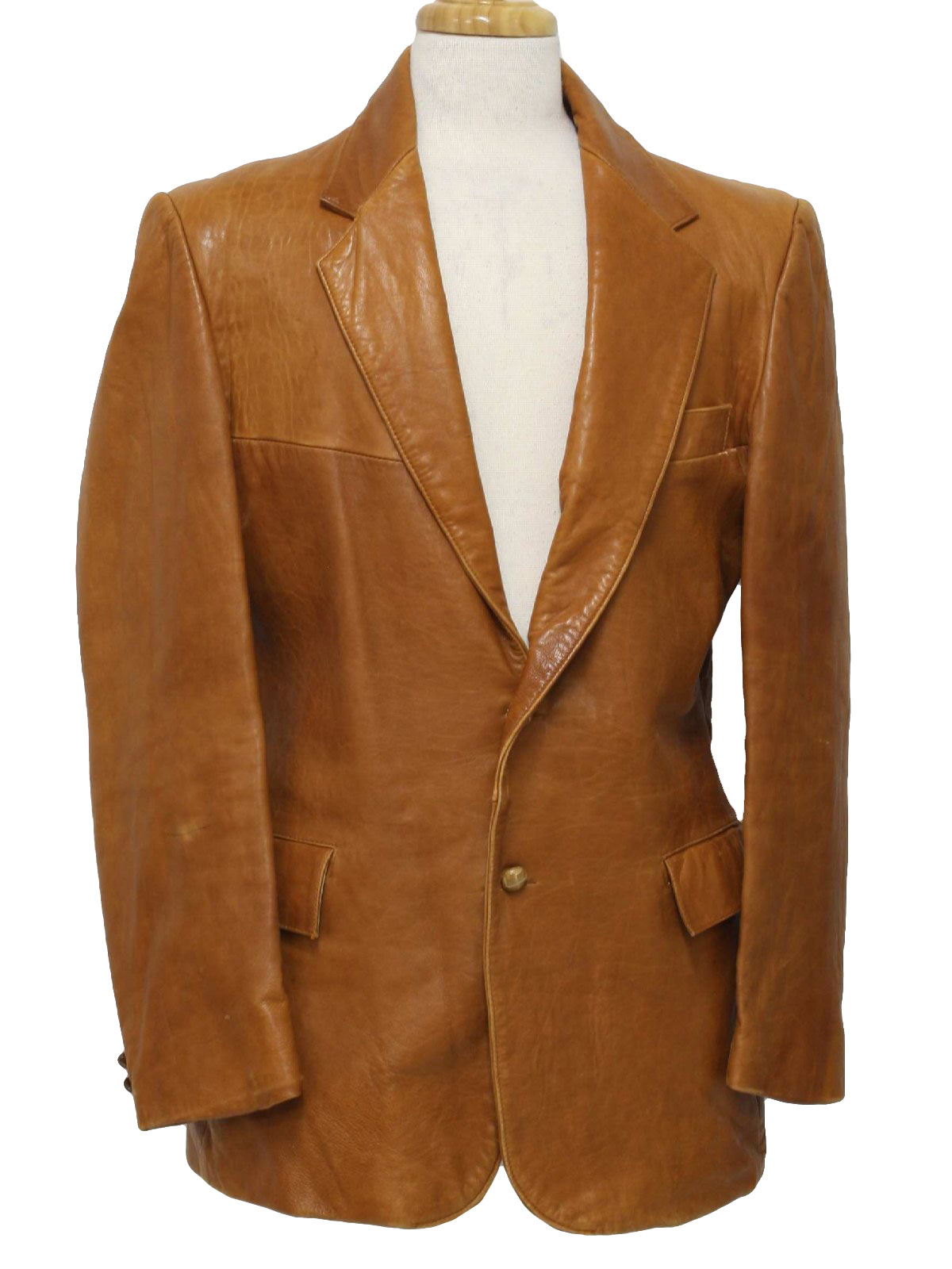 1970's Mens Leather Blazer Style Sport Coat Jacket $75.00 Not in stock. Item No. 231045