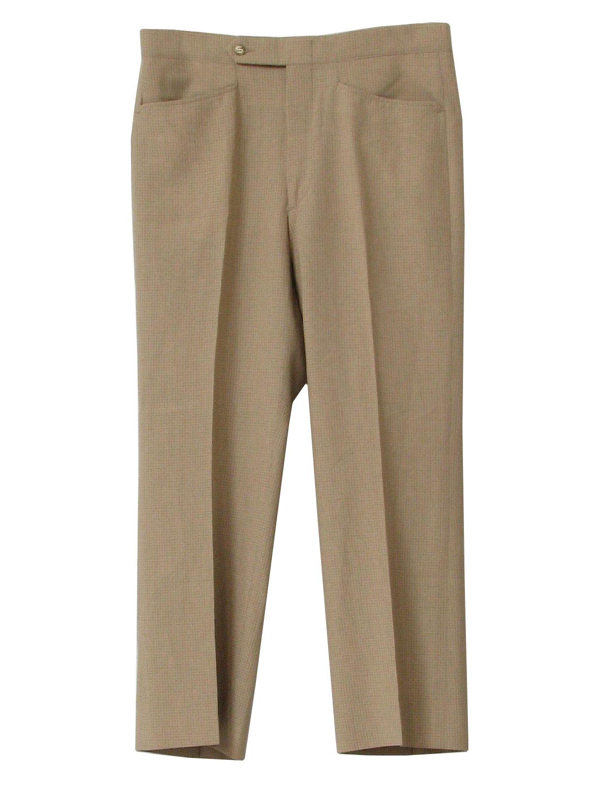 Seventies Sansabelt Pants 70s Sansabelt Mens Shaded Tan
