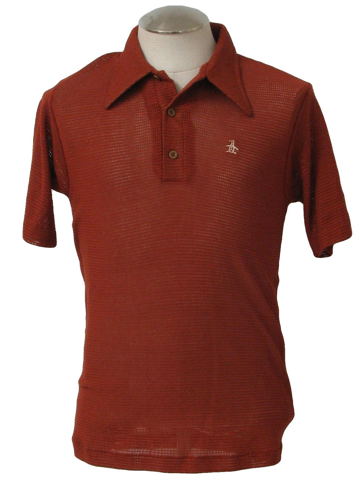 1970 39 s shirt grand slam 70s grand slam mens or boys for Golf shirt with penguin logo