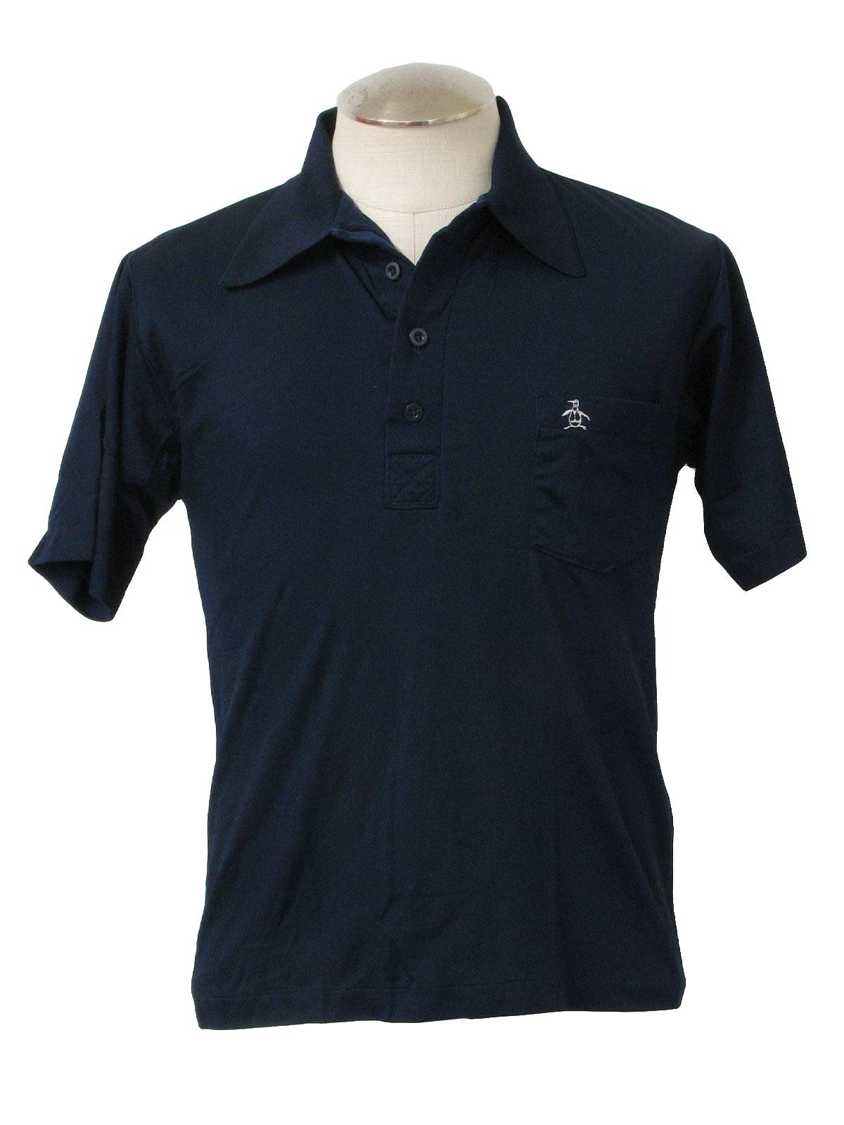 1970 39 s vintage grand slam shirt 70s grand slam mens ForGolf Shirt With Penguin Logo