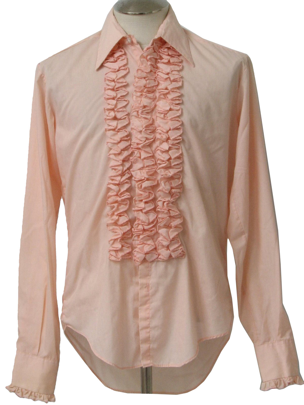 1980s tuxedo shirt